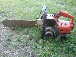 Stihl 08 Vintage / Antique Chainsaw With Big Hard Nose Oregon Bar Collector Saw