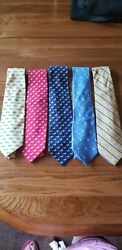 Lot Of 5 Aflac Silk Neck Ties
