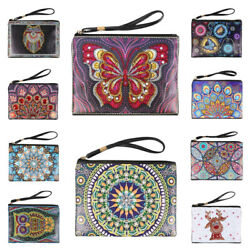 DIY Mandala Animal Diamond Painting Wristlet Bags Clutch Wallet Purse Gift Lot