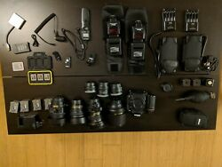 Lot of mint Nikon Gitzo F-Stop Arca-Swiss Kirk Pluto equipment