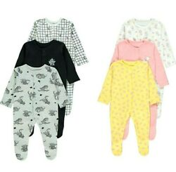 Baby Disney Dumbo / Marie Clothing 3 Pack Sleepsuits All In One Outfit Nightwear