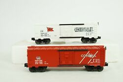 Lionel O Scale Nj Central And Lehigh Valley Overstamp Box Car 2-pack 6-29281