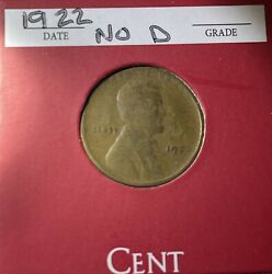 1922 No D Strong Reverse Xf Lincoln Wheat Cent 1c Penny Ungraded