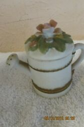 Lefton Small Ceramic Water Can Candle Holder