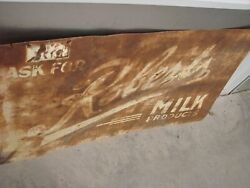 Antique 1920 Roberts Milk Delivery Signs
