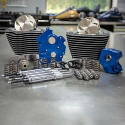 Sands 128 M8 Bolt On Big Bore Kit Highlight Fin Chain Cam Chrome Rod Water Cooled