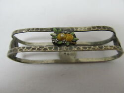 Charles M Robbins Enameled Napkin Ring 31 Sterling Silver 2 Andfrac12andrdquo Good Cond