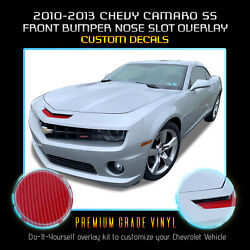 For 2010-2013 Chevy Camaro Ss Bumper Mail Slot Nose Overlay - 4d Carbon Fiber