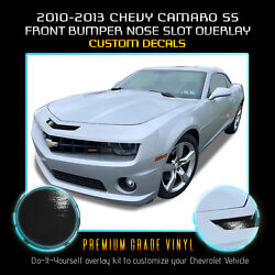 For 2010-2013 Chevy Camaro Ss Bumper Mail Slot Nose Overlay Vinyl - Glossy Matte