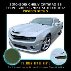 For 2010-2013 Chevy Camaro Ss Bumper Mail Slot Nose Overlay Decal - Flat Matte
