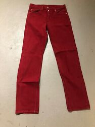 Vintage Levi's Men's 501- 1684 Straight Fit Red Button Fly Jeans 32x36 Usa