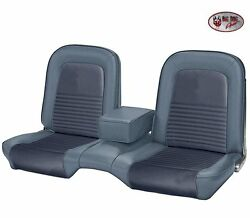 1967 Mustang Convertible Front And Rear Bench Seat Upholstery - Blue, Made By Tmi