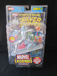 Marvel Legends Series V Silver Surfer Figure Toy Biz W/ Howard The Duck And Comic