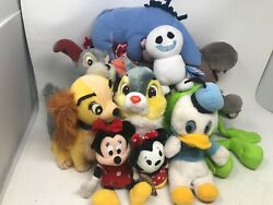 Lot Of 11 Disney Vintage & Modern Plush stuffed Toys New & Pre Owned