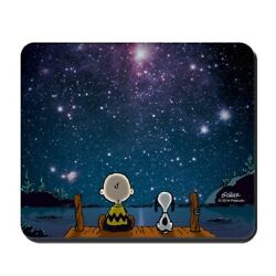 Rubber Mouse Pad Spaced Out Stars Shining Nonslip 5mm Thickness