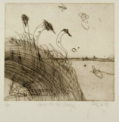 John Olsen 'emus At The Coorong' Collectable Original Etching - Signed