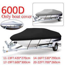 Heavy Duty 210/420d/600d 11-22ft Boat Cover Ski Boat Cover Fishing Bass Runabout