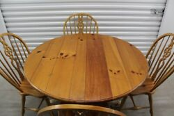 Dining Table, 6 Chairs, Hutch, Ethan Allen Farmhouse Pine, Table 6 Chairs, Hutch