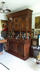 Antique French Buffet/side Board Cabinet