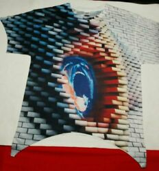 3d pink floyd the wall large tapered tshirt