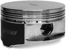 Manley Small Block For Chevrolet Ls Series 4.001in Bore -4cc Flat Top Piston Set