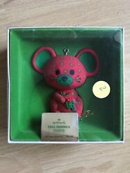 Vintage Hallmark Tree-Trimmer Collection Calico Mouse Red Green 1978 Ornament