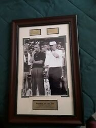 Custom Frame Picture Of Arnold Palmer And Jack Nicklaus From The Pga 1962...