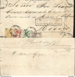 J 1872 Mexico Front Of Letter Durango Certification 100 Cents Gray 6 Cents