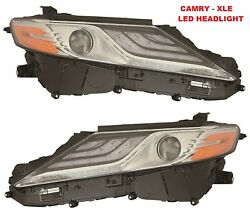 Toyota Camry 2018 2019 Xle Right Left Led Headlights Head Lights Lamps New Pair