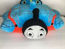 Thomas the Tank Engine Train Pillow Pets Large 17quot; Blue #1 PLUSH pal 2011