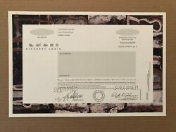 Discreet Logic Specimen Stock Certificate Ipo Technology Visual Effects Software