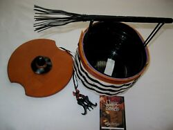 Longaberger Halloween 2013 Basket Wicked Witch Liner Tie On Lid Left Handed Nwt