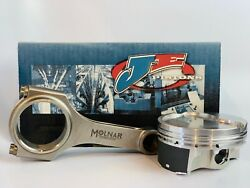 Je Inv. Dome Pistons Molnar Pwr Adr Rods For Bbc 6.535 Rod 4.560 9.11 Tall Dk