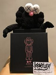 Kaws Bff Plush Black Companion Themodern Blue Brand New With Receipt In Hand Og