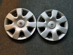 1 Brand New 2002 2003 2004 Pair Of 2 Camry 15 Hubcaps Wheel Covers 61115