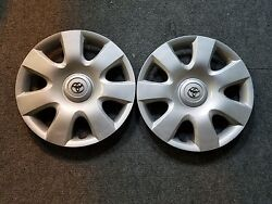Brand New 2002 2003 2004 Pair Of 2 Camry 15 Hubcaps Wheel Covers 61115