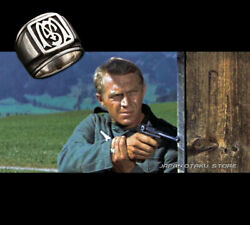 The Great Escape The King Of Cool Steve Mcqueen 950 Sterling Silver Ring