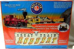Lionel 6-31928 Great Train Robbery Set W/ Hand Car And Sound