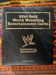 22kt Gold World Wrestling Entertainment Card Set Danbury Mint. Cards 1-53 And55