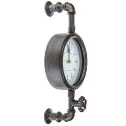 Industrial Pipe Wall Clock Contemporary Home Décor. Great Gift