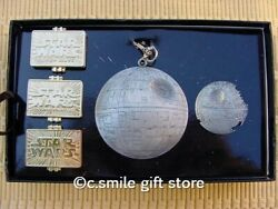 2015 Wdw Disney Star Wars Weekends Death Star Lanyard Pin And 3 Tiered Set Le 600
