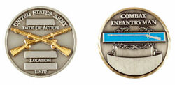 Us Army Combat Infantry Badge Challenge Coin Cc-16