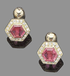 1.08ct Natural Round Diamond Ruby 14k Solid Yellow Gold Cuff Links For Men