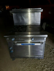 36 Imperial Flat Hot Top And 2 Heavy Duty Burner Range Natural Gas W/ Oven Ihr-2-