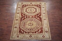 7x10 Antique European Savonnerie Wool Area Rug Hand-knotted Carpet 7 X 9.7
