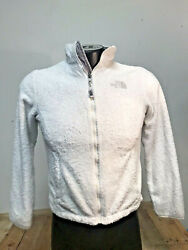 NORTHFACE WOMEN#x27;S SMALL JACKET ZIP UP ALL WHITE $20.00