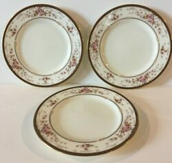 Lot Of 3 Noritake Brently Bread And Butter Plates 421334