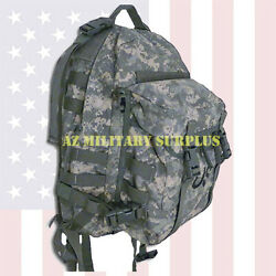 US MILITARY ASSAULT PACK HEAVY DUTY THREE DAY MOLLE II ACU BACKPACK w STIFFENER $43.99