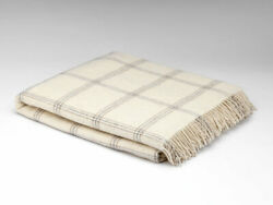 McNutt White Pearl Window Large Alpaca Blanket Throw - Made in Ireland