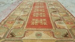 Masterpiece 1960-1980s Vintage 4and039x6and0398and039and039 Wool Pile Decorative Ushak Rug